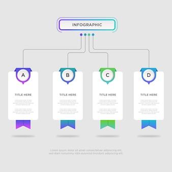 Werkstroom infographic ontwerpsjabloon