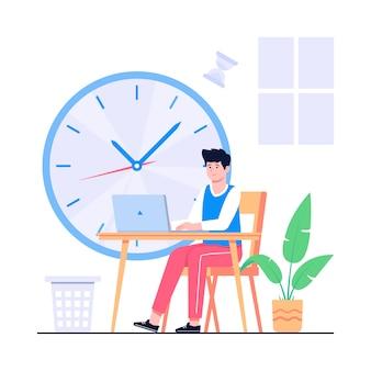 Werktijd concept illustratie