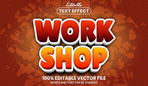 Werkwinkeltekst, bewerkbaar teksteffect in lettertypestijl