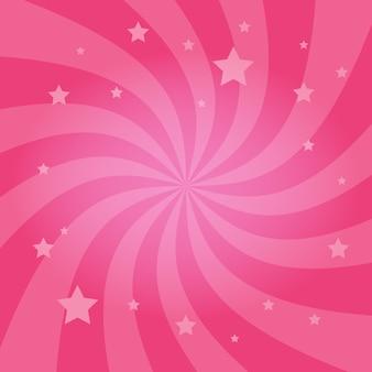 Wervelende radiale sterrenachtergrond
