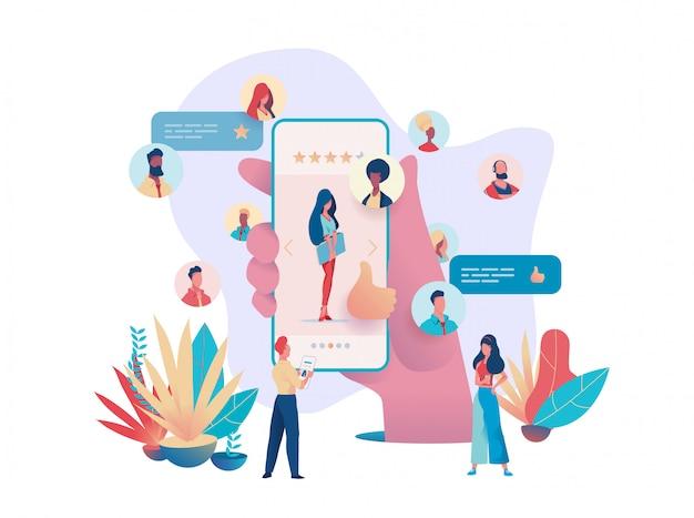 Wervingsbureau concept app zoek baan intervie