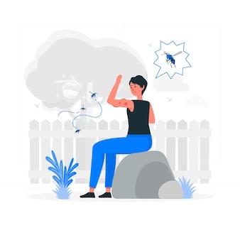 Wesp allergie concept illustratie