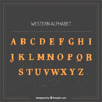 West-chic alfabet