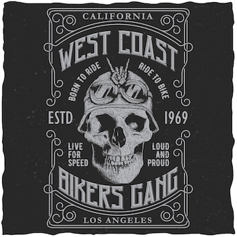West coast bikers gang poster