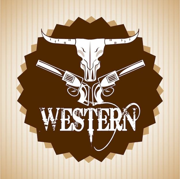 Westelijk bannerontwerp