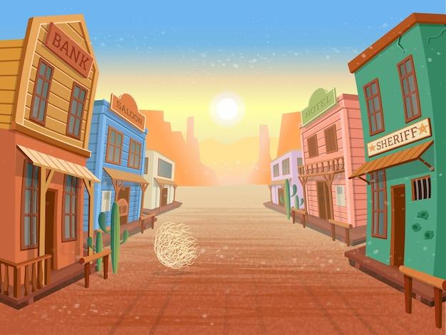 Westelijke stad. illustratie