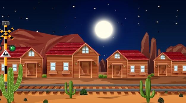 Westerse woestijn thema scène in de natuur