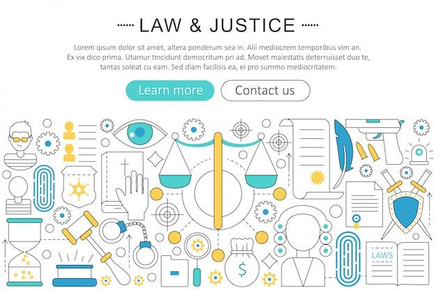 Wet en rechtvaardigheid concept