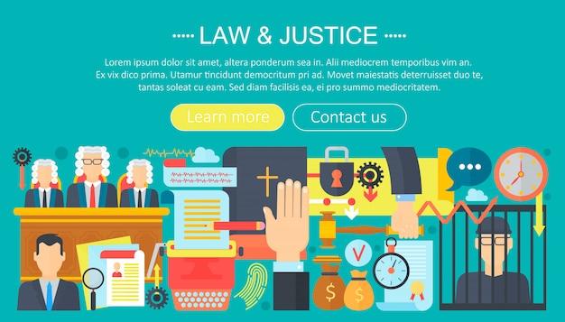 Wet en rechtvaardigheid infographics sjabloonontwerp