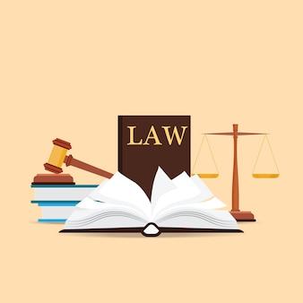 Wet en rechtvaardigheid ingesteld pictogram.