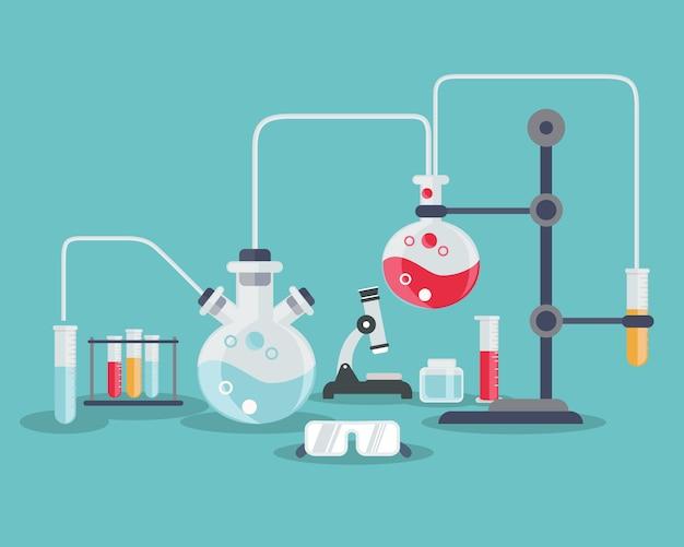 Wetenschap achtergrond ontwerp