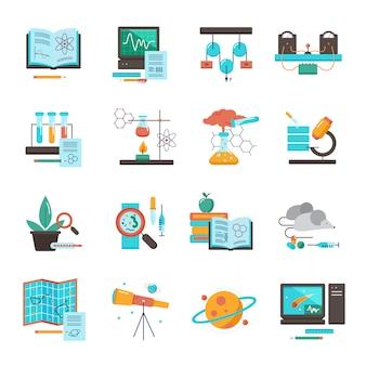 Wetenschap apparatuur pictogramserie
