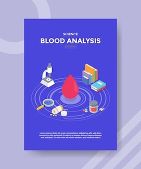 Wetenschap bloedanalyse flyer-sjabloon