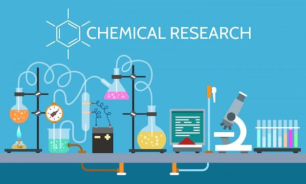 Wetenschap chemisch laboratorium