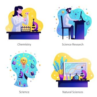 Wetenschap conceptontwerp