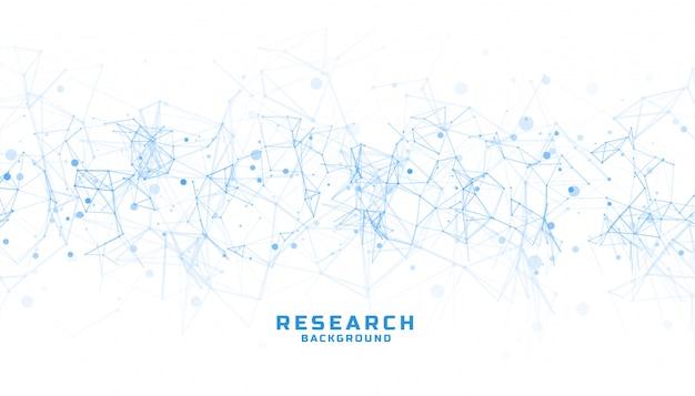 Wetenschap en onderzoekachtergrond met abstracte lijnen