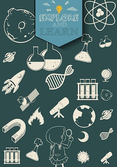 Wetenschap en technologie symbolen