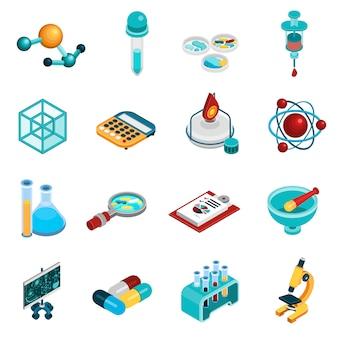Wetenschap icons set