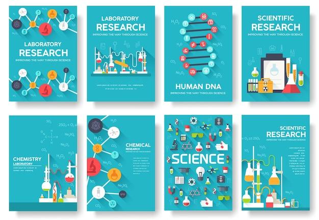 Wetenschap informatiekaarten set