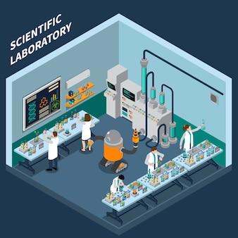 Wetenschap isometrisch concept