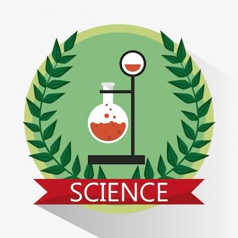 Wetenschap laboratorium beker stempel