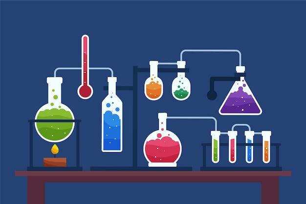 Wetenschap laboratorium illustratie
