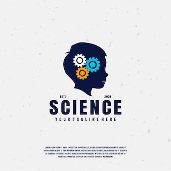 Wetenschap logo illustratie premium vector