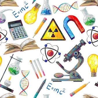 Wetenschap naadloze patroon