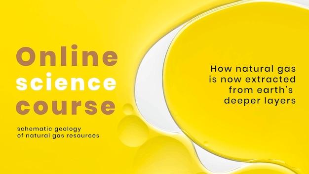 Wetenschap & onderwijssjabloon, presentatievector