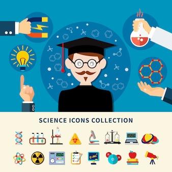 Wetenschap pictogrammen collectie