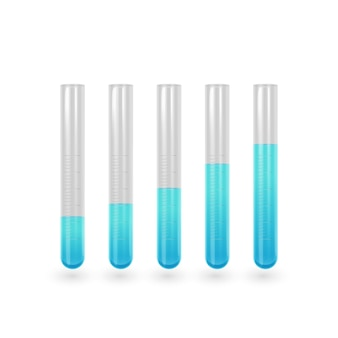 Wetenschap reageerbuis pictogramserie. reageerbuis met blauwe vloeistof.