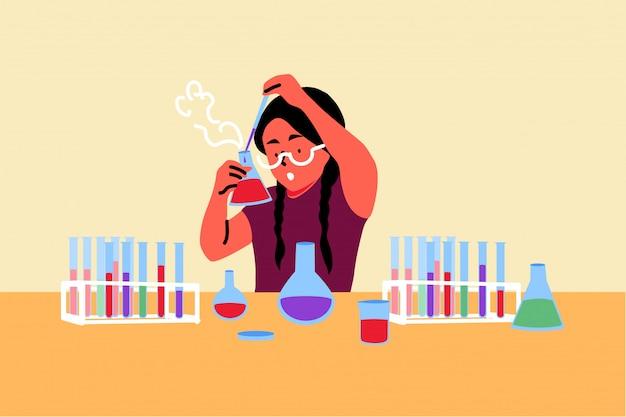 Wetenschap, scheikunde, onderwijs, studieconcept