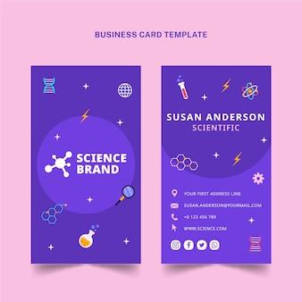 Wetenschap verticaal visitekaartje in vlakke stijl