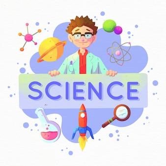 Wetenschap woord concept