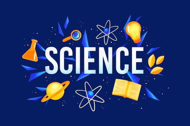 Wetenschap woordontwerp