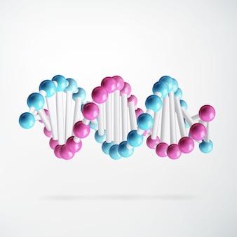 Wetenschappelijk kleurrijk abstract concept met moleculaire verbonden structuur op geïsoleerd wit
