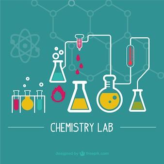 Wetenschappelijk laboratorium illustratie