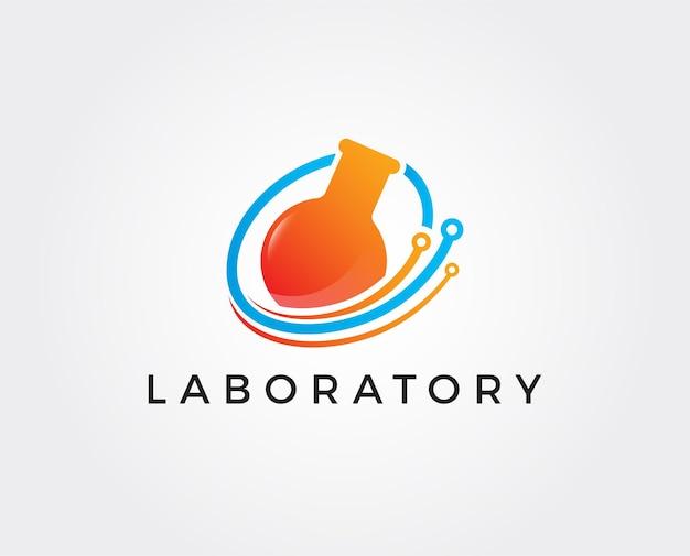 Wetenschappelijk laboratorium logo sjabloon