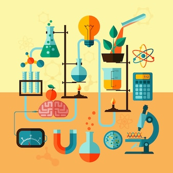 Wetenschappelijk onderzoek laboratorium sjabloon poster