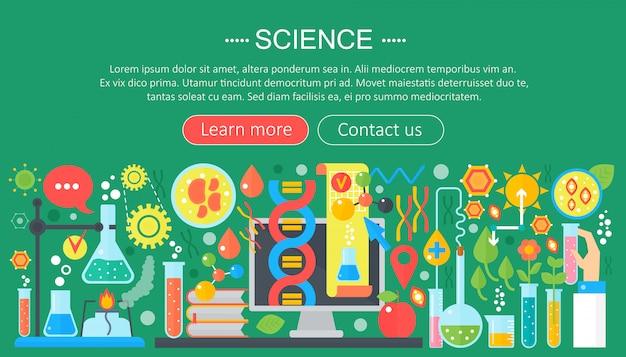 Wetenschappelijk onderzoek platte infographics sjabloon