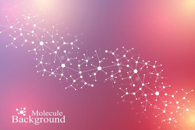 Wetenschappelijke chemie patroon structuur molecuul dna-onderzoek als concept wetenschap en technologie achter...