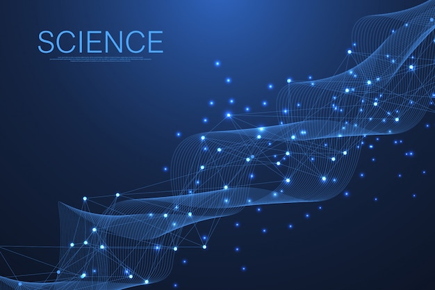 Wetenschappelijke molecuul achtergrond voor geneeskunde, wetenschap, technologie, chemie.