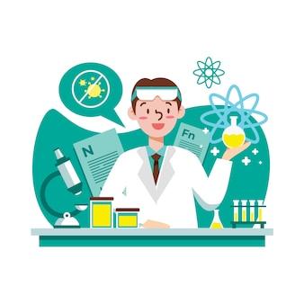 Wetenschapper aan het werk