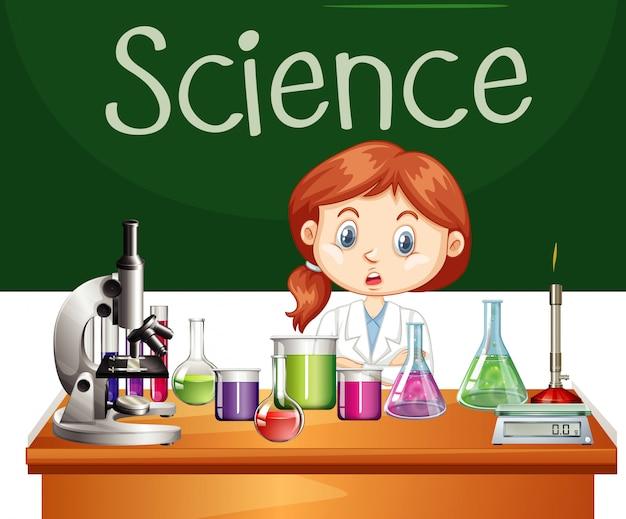 Wetenschapper die in het lab werkt