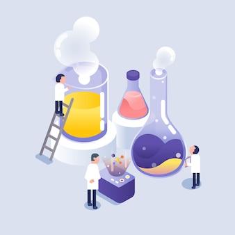 Wetenschapper die in laboratorium werkt