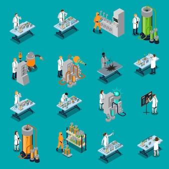 Wetenschapper icons set