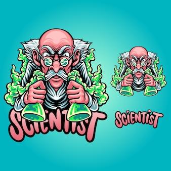 Wetenschapper mascotte