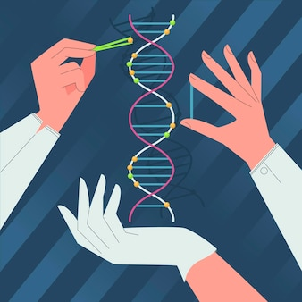 Wetenschappers houden dna-moleculen vast
