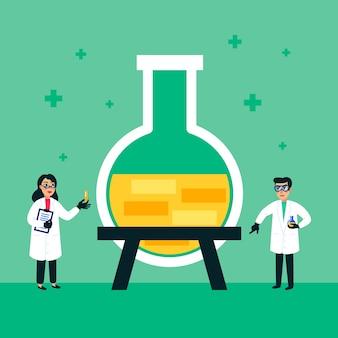 Wetenschappers mannen en vrouwen die werken bij science lab