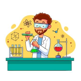 Wetenschappers werken concept